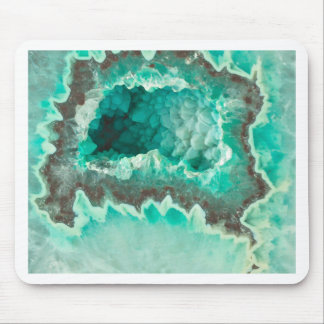Minty Geode Crystals Mouse Pad