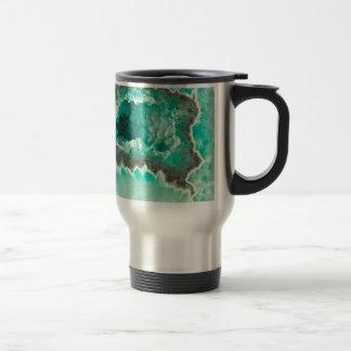 Minty Geode Crystals Travel Mug