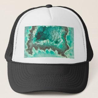 Minty Geode Crystals Trucker Hat