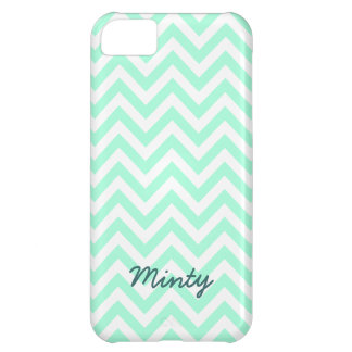 Minty green chevron pattern iPhone 5C case