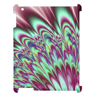 Minty Green Purple Bloom Cover For The iPad