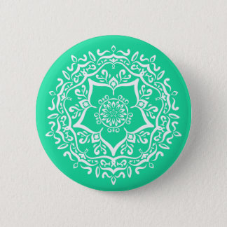 Minty Mandala 2 Inch Round Button