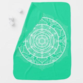 Minty Mandala Baby Blanket