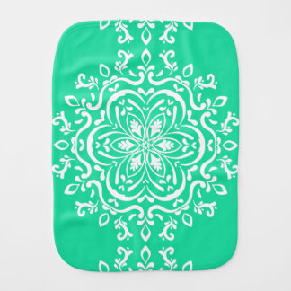 Minty Mandala Burp Cloth