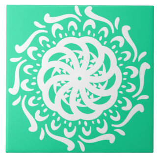 Minty Mandala Ceramic Tiles