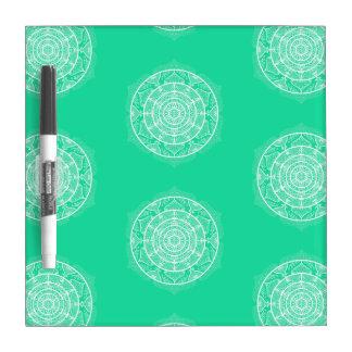 Minty Mandala Dry Erase Board