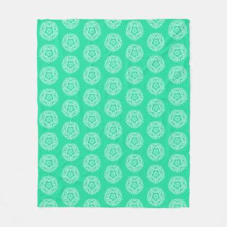 Minty Mandala Fleece Blanket