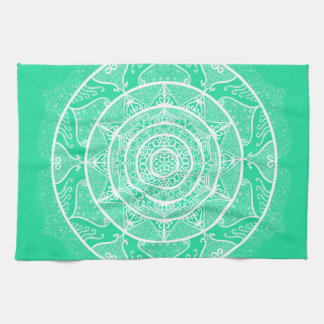 Minty Mandala Kitchen Towel