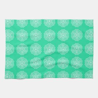 Minty Mandala Kitchen Towel