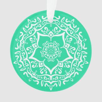 Minty Mandala Ornament