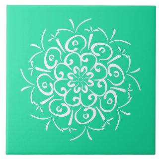 Minty Mandala Tiles