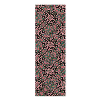 Minty Pattern Bookmark Business Card