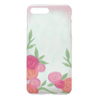Minty Rose Garden Clear Designed Case