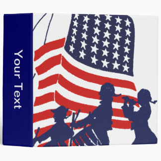 Minutemen and The American Flag Vinyl Binder