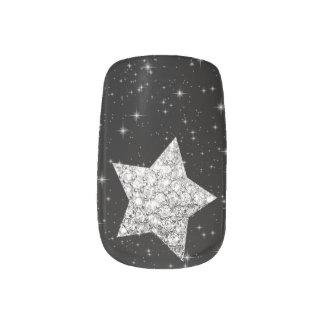 Minx Nail diamond star Minx Nail Art