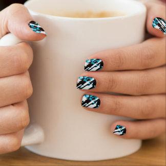 Minx Nails Hot Blue Black abstract digitalart G253 Minx Nail Art