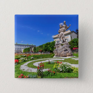 Mirabell palace and gardens, Salzburg, Austria 2 Inch Square Button