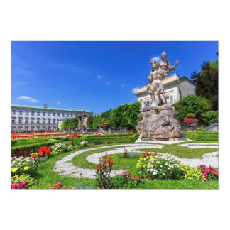 Mirabell palace and gardens, Salzburg, Austria Card