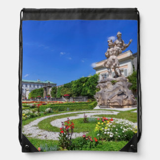 Mirabell palace and gardens, Salzburg, Austria Drawstring Bag