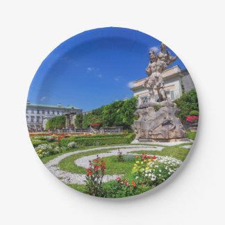 Mirabell palace and gardens, Salzburg, Austria Paper Plate