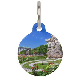 Mirabell palace and gardens, Salzburg, Austria Pet Name Tag
