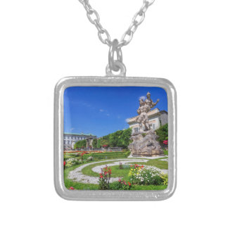 Mirabell palace and gardens, Salzburg, Austria Silver Plated Necklace