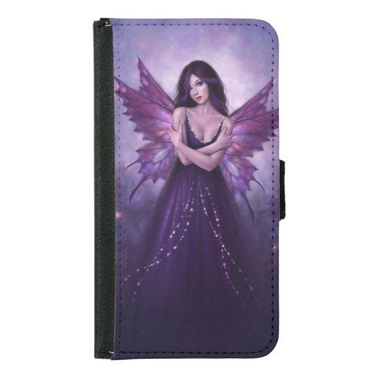 Mirabella Purple Fairy Galaxy S5 Wallet Case