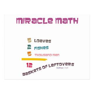 Miracle Math Postcard