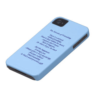 Miracle of Friendship Poem Black Berry Bold Case iPhone 4 Case-Mate Case