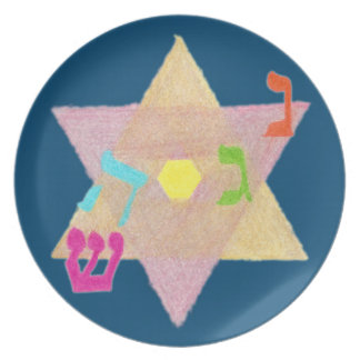 Miracle of Hanukkah Remembrance Melamine Plate