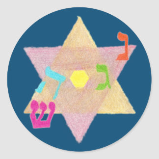 Miracle of Hanukkah Round Stickers