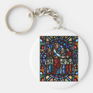 Miracle of Jesus in Cana Stained Glass Art Keychain