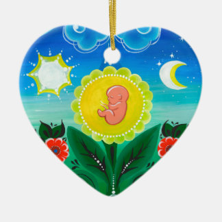 Miracle of Life Ceramic Ornament