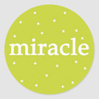 Miracle on Green Round Sticker