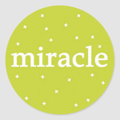 Miracle on Green Round Stickers