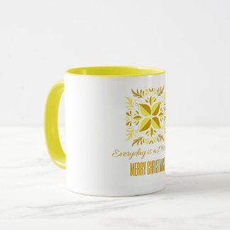 Miracle Yellow Snowflake Mug