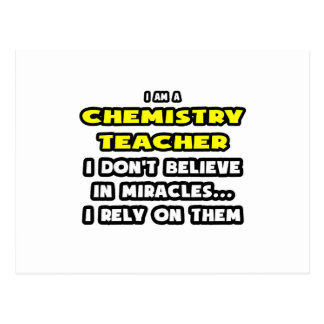 Miracles and Chemistry Teachers ... Funny Postcard