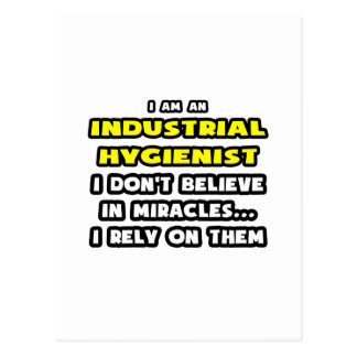 Miracles and Industrial Hygienists ... Funny Postcard