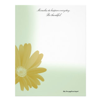 Miracles Do Happen Everyday Letterhead