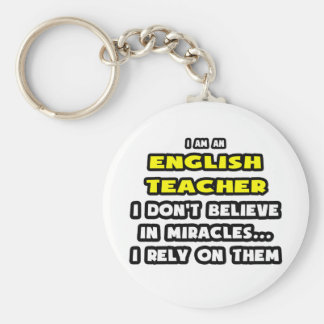Miracles et professeurs d Anglais… drôles Porte-clef