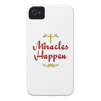 Miracles Happen iPhone 4 Cover
