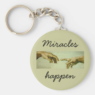 Miracles Happen - keychain