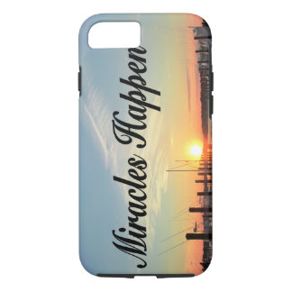 MIRACLES HAPPEN SUNSET PHOTO DESIGN iPhone 7 CASE