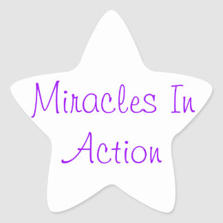Miracles In Action Star Sticker