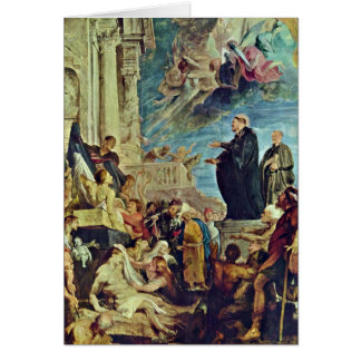 Miracles Of St. Francis Xavier By Peter Rubens Greeting Card