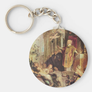 Miracles of St. Ignatius of Loyola by Paul Rubens Keychain