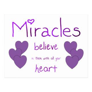 Miracles Postcard