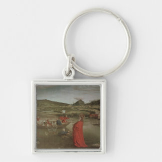 Miraculous Draught of Fishes Silver-Colored Square Keychain