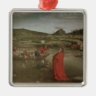 Miraculous Draught of Fishes Silver-Colored Square Ornament