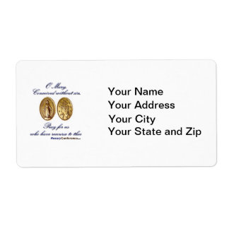Miraculous Medal Labels